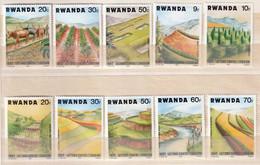 RWANDA - Agriculture, Lutte Contre L'érosion - Y&T N° 1159-1168 - MNH - 1983 - 1980-89: Neufs