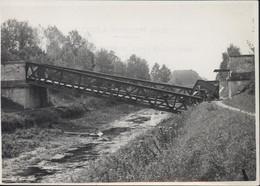 Photo Guerre 39 45 Bombardement Alliés Ligne D'Esternay (51) Marne à Romilly Aube Pont Sur Canal Bernière à Conflans - Sin Clasificación