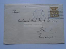 D177087 Czechoslovakia  Cover  Cancel PRAHA 1921  Lieutenant Carl Ernst Gerna - Brünn - Cartas