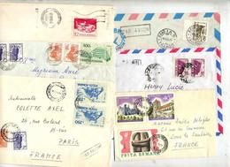 Lot 12 Lettres + 9 Devant De Lettres (anciennes) + 1 Lettre Entiere Illustré - Marcofilie - EMA (Printer)