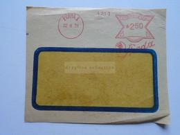 D177088 Czechoslovakia  Cover Cut (Front Side)   Cancel PRAHA 1938  EMA  Meter  Franking  - SKODA - Cartas