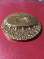 Médaille Presse-papiers Stade De France Football 1998 Bronze 690 Gr.  Par Th.Dufresne Pour La Monnaie De Paris - Altri