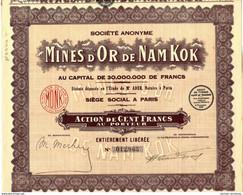 ACTION MINES D OR DE NAM KOK - Mineral