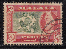 Perlis $2.00 Used 1957, Malaya / Malaysia - Perlis