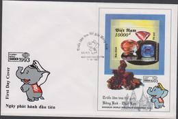 VIETNAM - 1992 - BANGKOK / MINERALS  SOUVENIR SHEET ON ILLUSTRATED  FIRST DAY COVER - Vietnam