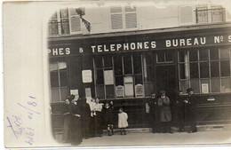 PARIS - Bureau De Postes Et Télégraphes N° 9 - Carte Photo (121220) - Post