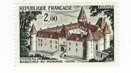 Château De Bazoches YT 1726 + D : Normal + GOMME MATE . Rare , Voir Scan . Cotes YT : 46.20 € Maury N° 1726 + E :  51 € - Varietà: 1970-79 Nuovi