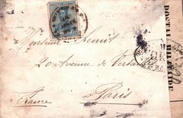 LETTRE BUENOS AIRES POUR PARIS / 1913 / CENSURE CONTROLE MILITAIRE - Cartas
