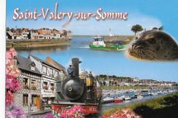 CPM SAINT VALERY SUR SOMME  Le Port  - Le Petit Train - Saint Valery Sur Somme
