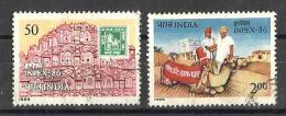 INDIA, 1986, Inpex 1986, ( Philatelic Exhibition), Jaipur, , Hawa Mahal & Mobile Camel Post Set 2 V, FINE USED - Oblitérés