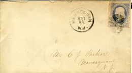 US Local Manasquan To Manasquan C. 1 Franklin - 1845-47 Emissioni Provinciali