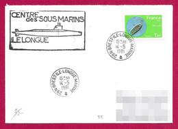 Enveloppe Datée De 1981 - Marine Nationale - Centre Des Sous-Marins De L'Île Longue Dans Le Finistère - Militaire Stempels Vanaf 1900 (buiten De Oorlog)