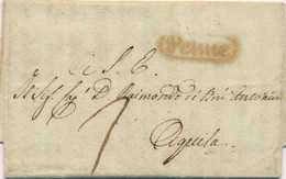 Italie 1832 Lettre PENNE > AQUILA Port Dû - 1. ...-1850 Prephilately