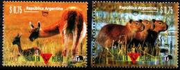 Argentina 1995 YT1930-31 **  UPAEP Fauna En Peligro De Extinción. Fauna In Danger Of Extinction. (short Teeth) - Neufs