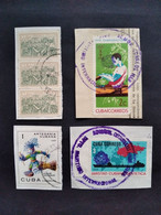 CUBA LOT STAMPS ON PAPER, GOOD CANCELS - Sin Clasificación