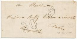 BOITE B/2 = ST JULIEN AUBE LAC 1854 TROYES T15 TAXE 30 (DECHIRURE A L INTERIEUR SUR TXT) Voir Les Scans - 1849-1876: Classic Period