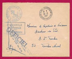 """Enveloppe Datée De 1967 - Marine Nationale - Oblitération """"Brest - Laninon - Marine - Nord Finistère"""" - Militärstempel Ab 1900 (ausser Kriegszeiten)"""