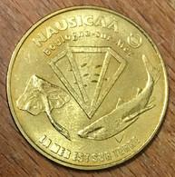 62 BOULOGNE SUR MER LA MER EST SUR TERRE NAUSICAÀ MEDAILLE MONNAIE DE PARIS 2009 JETON TOURISTIQUE MEDALS COINS TOKENS - 2009