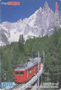Carte JAPON - TRAIN Sur PONT En FRANCE / CHAMONIX MONTANVERT - JAPAN Prepaid Lagare Card - 3453 - Trenes