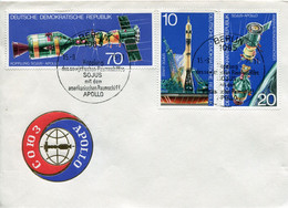 Espace -DDR FDC Espace Satellite Apollo 15 SEPT 1975 - Europa