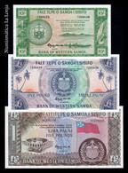 Samoa Set 10 Shillings 1 5 Pounds 1963 (2020) Pick 13Cs 14Cs 15Cs SC UNC - Samoa