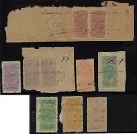 Brazil 1890 10 Fiscal Revenue Stamps Southern Star 100 200 (pair) 400 (pair) 500 1,000 (2 Colors) 2,000 And 5,000 Réis - Otros