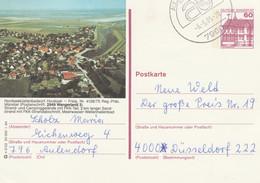 West Duitsland 1984, Hooksiel, Wangerland, Strand En Camping FKK - Postales Ilustrados - Usados