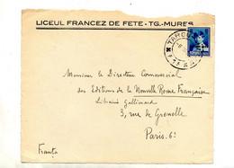Devant De Lettre Cachet Targu Sur Enfant Surchargé 8 Juni 1936 - Marcofilie