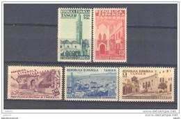 TABE1BH-L4247TEURESPBENEF. Maroc Marocco TANGER ESPAÑOL.BENEFICENCIA 1938.(Ed 6/11**)sin Charnela.LUJO.BORDE DE HOJA - Bienfaisance