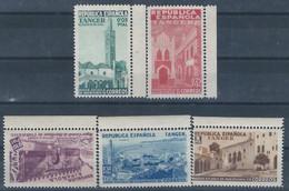 TABE1BH-L4227TEURESPBENEF. Maroc Marocco TANGER ESPAÑOL.BENEFICENCIA 1938.(Ed 6/11**)sin Charnela.LUJO.BORDE DE HOJA - Beneficiencia (Sellos De)
