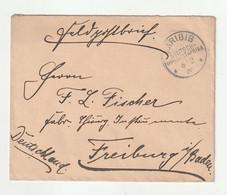"""Deutsch-Suedwestafrika - 1905 - Feldpostbrief K1-Stempel """"KARIBIB"""" Nach Freiburg (1/005) - Colonie: Afrique Sud-Occidentale"""