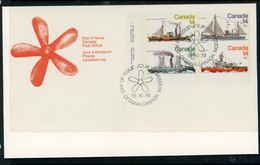 Canada FDC 1978 Ice Vessels - Cartas