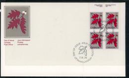 Canada FDC 1978 Red Oak - Cartas