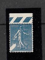 FRANCE YT 205 NEUF** TTB VARIETE TACHE BLANCHE SIGNE ROUMET - Curiosities: 1921-30 Mint/hinged