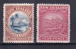 NEW ZEALAND - 1898 - YVERT N° 71+75 * MH - COTE = 23 EUR. - - Nuovi
