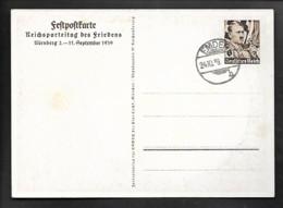 DR GA Festpostkarte Reichsparteitag 1939 / Emden - Militaria