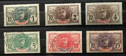HAUT SENEGAL ET NIGER 1906 - LOT Série FAIDHERBE PALMIERS YT 1 / 6 - Lire Descriptif -  4 NEUF* / MH + 2 OBL - CV 20 EUR - Neufs