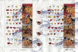 Argentine - 2003 - Yt 2391/2394 - Gastronomie Argentine - Obl . Feuille Complète De 2 Séries - Oblitérés