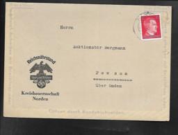 DR Faltbrief Reichsnährstand Norden - Nach Pewsum - Militaria