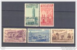 TABE1SF-L4227TEURPESPVA.Marruecos.Maroc.Marocco VISTAS DE TANGER ESPAÑOL BENEFICENCIA 1937 (Ed 1/5**)sin Charnela LUJO - Variétés & Curiosités