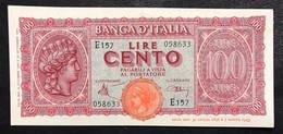 100 Lire Italia Turrita 10 12 1944 LUOGOTENENZA Q.FDS  LOTTO 773 - 100 Lire
