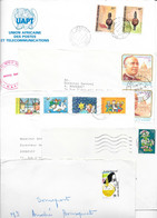 Lot De 28 Enveloppes à Trier Avec Timbres, FDC Et Marcophilie - Origine: Europe Et Pays D'Afrique - Unclassified