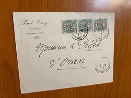 Lettre De 1917 Du Maroc Pour Le Préfet D'Oran - Brieven En Documenten