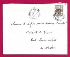 """Enveloppe Datée De 1966 - Marine Nationale - Oblitération """"Brest - Laninon - Marine - Finistère"""" - Militaire Stempels Vanaf 1900 (buiten De Oorlog)"""