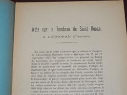 [BRETAGNE - FINISTÈRE] Note Sur Le Tombeau De Saint Ronan à LOCRONAN / L. LE GUENNEC - Sin Clasificación
