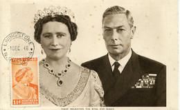 62367 Northern Rhodesia , Maximum 1.12.1948  The H.m. Queen And King, Postmark Livingstone - Nordrhodesien (...-1963)