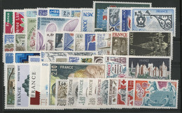 FRANCE ANNEE COMPLETE 1977 COTE = 45 € Neufs ** (MNH) Soit 48 Timbres (vendus à La Valeur Faciale 11,40 €). TB - 1970-1979