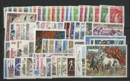 FRANCE ANNEE COMPLETE 1978 COTE = 57 € Neufs ** (MNH) Soit 69 Timbres (vendus à La Valeur Faciale 12,45 €). TB - 1970-1979