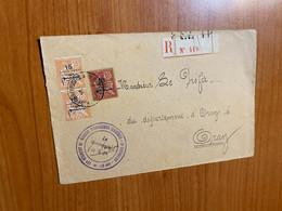 Lettre R - Du Maroc Pour Le Préfet D'oran - Cachet Tirailleurs Indigènes ( Voire Scan) - Brieven En Documenten