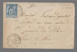 St MARTIN En BRESSE : 1882 :  CàD Type 20 Sur Sage 5c Bleu N° 90 ( Saône Et Loire ) - 1877-1920: Periodo Semi Moderno